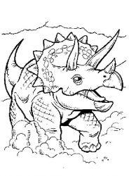 plansa de colorat animale dinozauri de colorat p68
