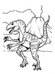 plansa de colorat animale dinozauri de colorat p70