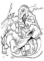 plansa de colorat animale dinozauri de colorat p74
