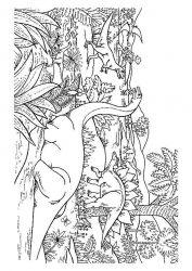 plansa de colorat animale dinozauri de colorat p75