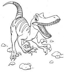 plansa de colorat animale dinozauri de colorat p84