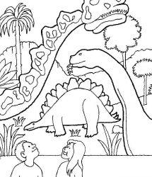 plansa de colorat animale dinozauri de colorat p85