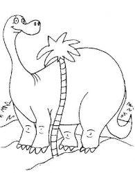 plansa de colorat animale dinozauri de colorat p86
