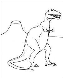 plansa de colorat animale dinozauri de colorat p87