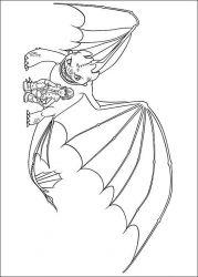plansa de colorat animale dragoni de colorat p07