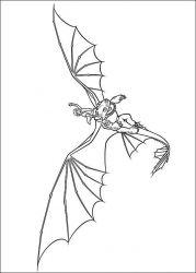 plansa de colorat animale dragoni de colorat p08