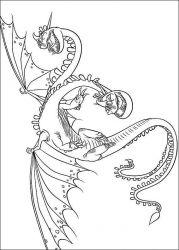 plansa de colorat animale dragoni de colorat p10