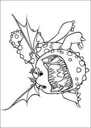 plansa de colorat animale dragoni de colorat p14