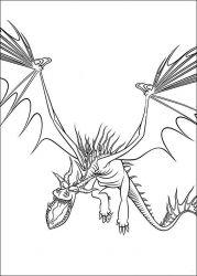 plansa de colorat animale dragoni de colorat p17