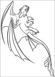 plansa de colorat animale dragoni de colorat p18