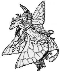 plansa de colorat animale dragoni de colorat p22