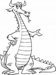 plansa de colorat animale dragoni de colorat p23