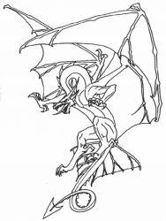 plansa de colorat animale dragoni de colorat p27
