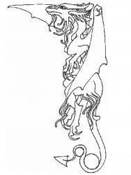 plansa de colorat animale dragoni de colorat p29