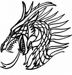plansa de colorat animale dragoni de colorat p32