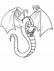 plansa de colorat animale dragoni de colorat p34
