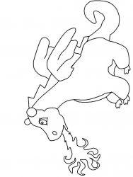plansa de colorat animale dragoni de colorat p35