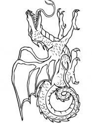 plansa de colorat animale dragoni de colorat p37