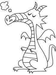 plansa de colorat animale dragoni de colorat p38