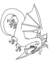plansa de colorat animale dragoni de colorat p39