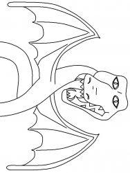 plansa de colorat animale dragoni de colorat p40