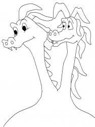 plansa de colorat animale dragoni de colorat p41