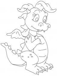 plansa de colorat animale dragoni de colorat p43