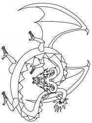 plansa de colorat animale dragoni de colorat p44