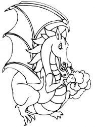 plansa de colorat animale dragoni de colorat p46
