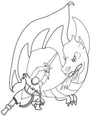 plansa de colorat animale dragoni de colorat p47