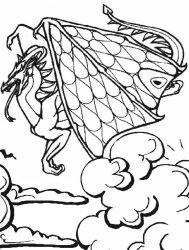 plansa de colorat animale dragoni de colorat p49