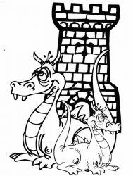 plansa de colorat animale dragoni de colorat p50