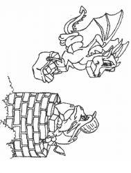 plansa de colorat animale dragoni de colorat p53