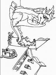 plansa de colorat animale dragoni de colorat p54
