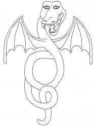 plansa de colorat animale dragoni de colorat p55