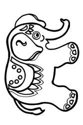 plansa de colorat animale elefanti de colorat p02