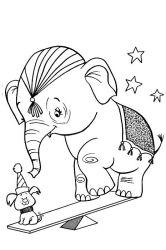 plansa de colorat animale elefanti de colorat p03