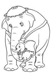 plansa de colorat animale elefanti de colorat p04