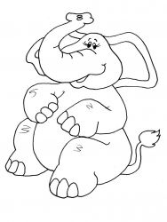 plansa de colorat animale elefanti de colorat p11