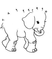 plansa de colorat animale elefanti de colorat p14