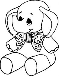 plansa de colorat animale elefanti de colorat p16