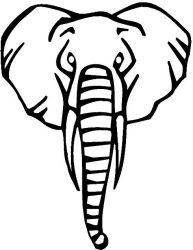 plansa de colorat animale elefanti de colorat p19
