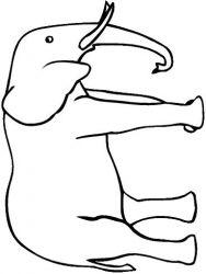 plansa de colorat animale elefanti de colorat p20