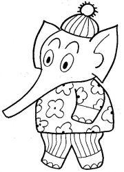 plansa de colorat animale elefanti de colorat p25