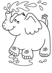 plansa de colorat animale elefanti de colorat p42
