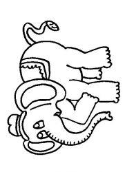 plansa de colorat animale elefanti de colorat p49