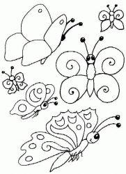 plansa de colorat animale fluturasi de colorat p04