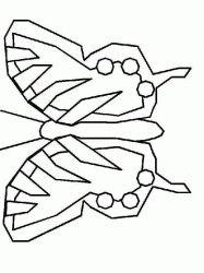 plansa de colorat animale fluturasi de colorat p22