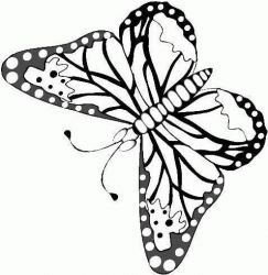 plansa de colorat animale fluturasi de colorat p31
