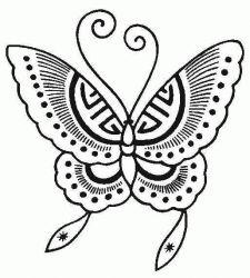 plansa de colorat animale fluturasi de colorat p38